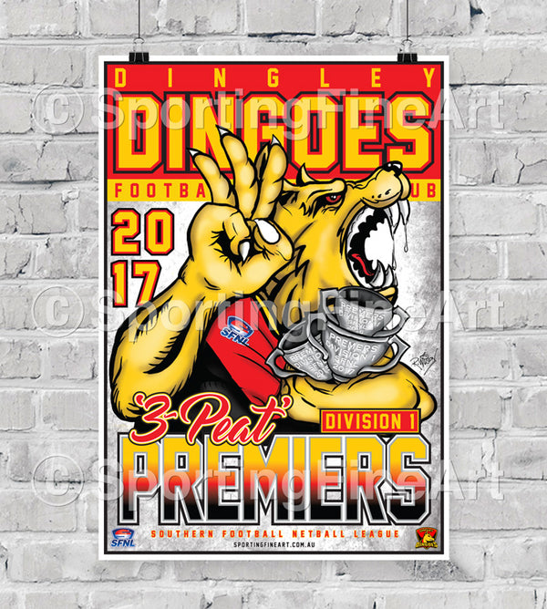 Dingley Football Club 2017 Premiership Poster