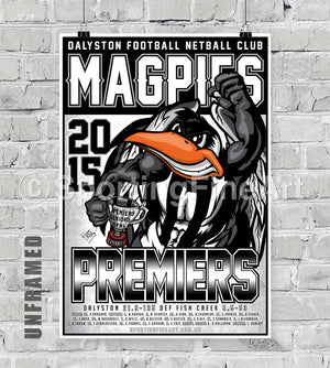 Dalyston Football Club 2015 Premiership Poster