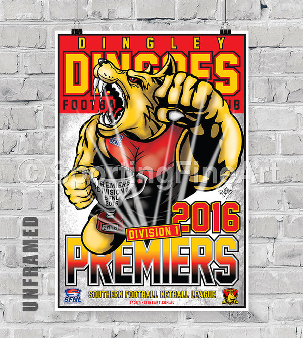 Dingley Football Club 2016 Premiership Poster