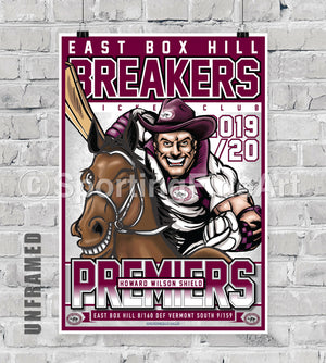 East Box Hill CC 2019/20 Premiership Poster