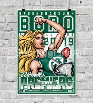 Greensborough FC Women's 2019 Premiership Poster