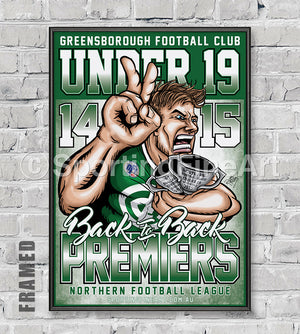 Greensborough FC Under 19 Back to Back Premiership Poster