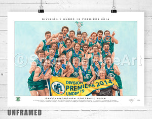 Greensborough FC 2014 Under 19 Premiership Fine Art Print