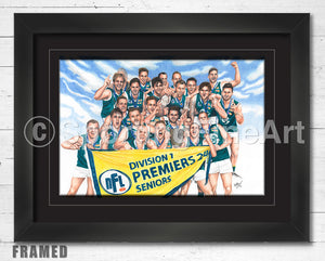 Greensborough FC 2014 Premiership Fine Art Print