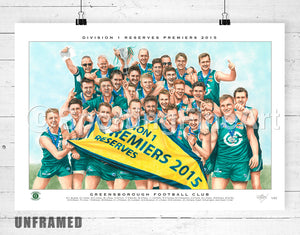 Greensborough FC 2015 Reserves Premiership Fine Art Print