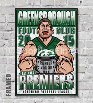 Greensborough FC Reserves 2015 Premiership Poster
