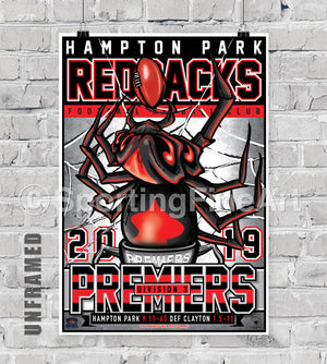 Hampton Park Football Netball Club 2019 Premiership Poster