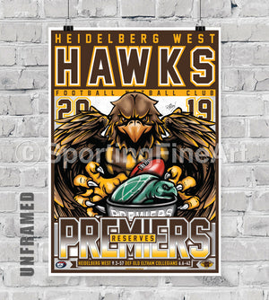 Heidelberg West FC 2019 Reserves Premiership Poster