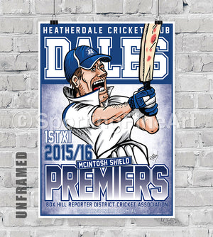 Heatherdale Cricket Club 2015/16 Premiership Poster