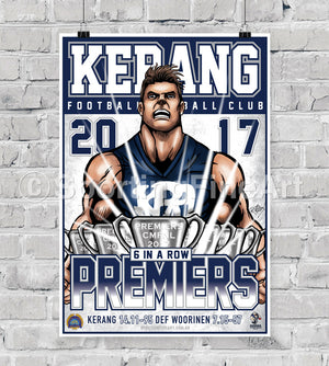 Kerang Football Club 2017 Premiership Poster