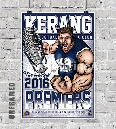 Kerang Football Club 2016 Premiership Poster