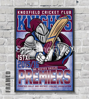 Knoxfield Cricket Club 2015/16 Premiership Poster