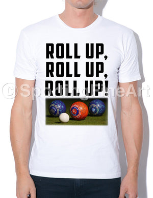 Roll Up Lawn Bowls Tee