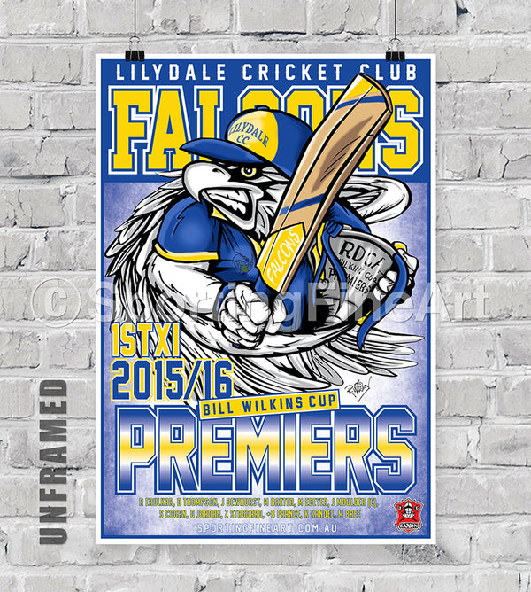 Lilydale Cricket Club 2015/16 Premiership Poster