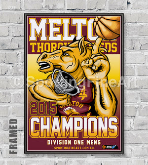 Melton Thoroughbreds 2015 Premiership Poster