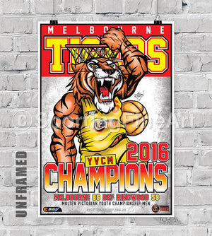 Melbourne Tigers YVCM 2016 Championship Poster
