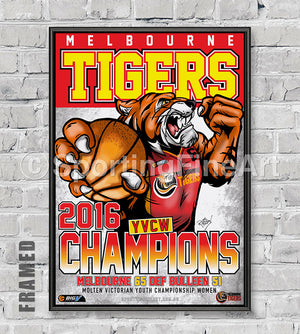 Melbourne Tigers YVCW 2016 Championship Poster