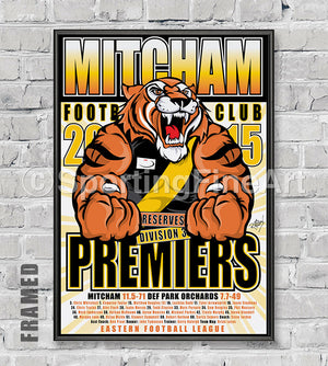 Mitcham FC 2015 Reserves Premiership Poster