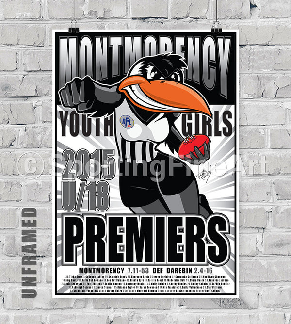 Montmorency Youth Girls 2015 Premiership Poster