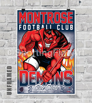 Montrose Football Club 2016 Club Poster