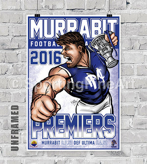 Murrabit Football Club 2016 Premiership Poster