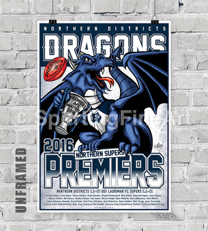 Northern Districts FC 2016 Premiership Poster