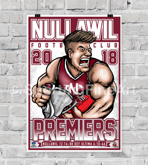 Nullawil Football Club 2018 Premiership Poster