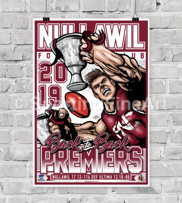 Nullawil Football Club 2019 Premiership Poster
