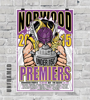 Norwood JFC Under 15 2015 Premiership Poster
