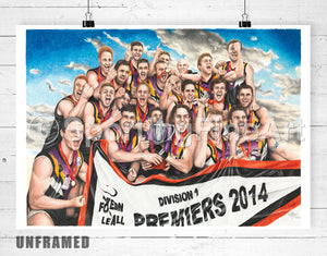 Norwood FC 2014 Premiership Fine Art Print