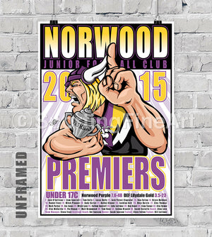 Norwood JFC Under 17 2015 Premiership Poster