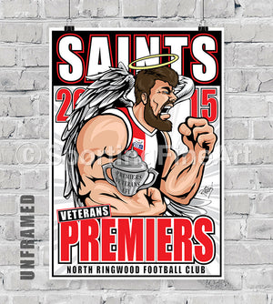 North Ringwood Football Club Vets 2015 Premiership Poster