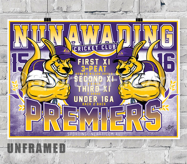 Nunawading Cricket Club 2015/16 Premiership Poster