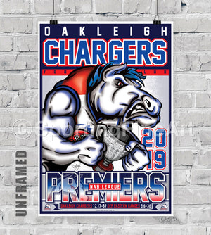 Oakleigh Chargers 2019 Premiership Poster
