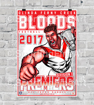 Olinda Ferny Creek Football Club 2017 Premiership Poster