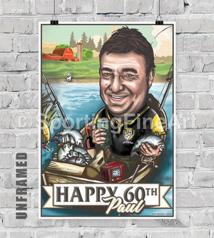 Sporting Fine Art Individual Caricature Gift Card