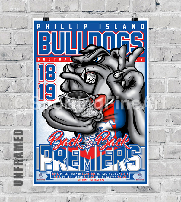 Phillip Island Football Club 18/19 Premiership Poster
