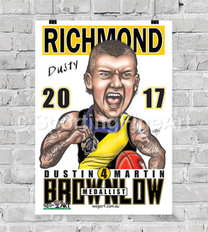 Dustin Martin 2017 Brownlow Medal Poster