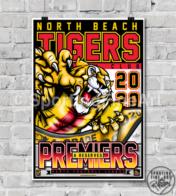 North Beach FC Reserves 2020 Premiership Poster
