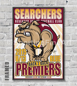 Research JFC U13 2015 Premiership Poster