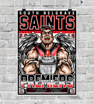 South Belgrave Football Netball Club 2019 Premiership Poster