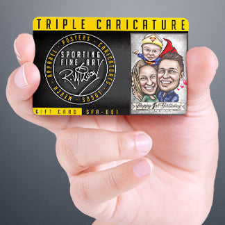 Sporting Fine Art Triple Caricature Gift Card