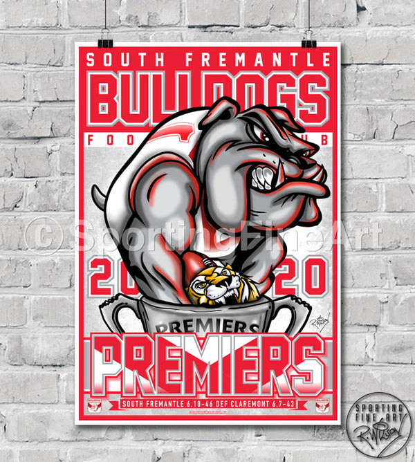 South Fremantle Bulldogs FC 2020 Premiership Poster
