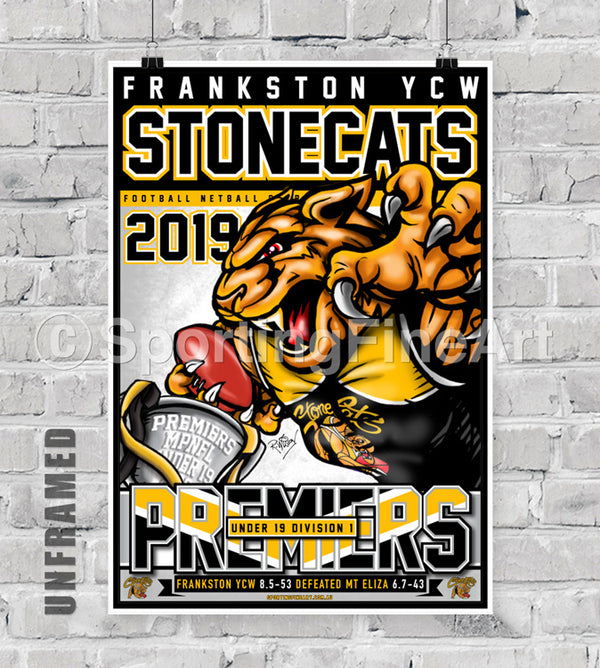 Frankston YCW FC Under 19 2019 Premiership Poster