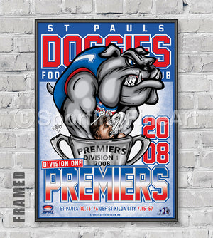 St Pauls Football Club 2008 Premiership Poster