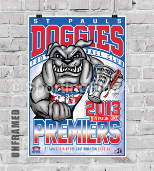 St Pauls Football Club 2013 Premiership Poster