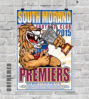 South Morang JFC Under 16 2015 Premiership Poster