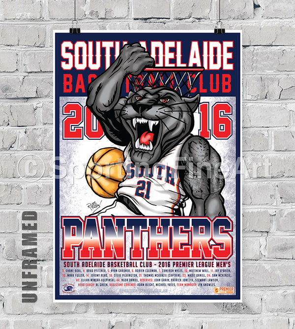 South Adelaide BC 2016 Team Poster