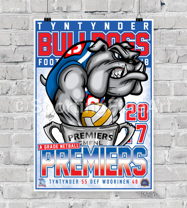 Tyntynder Football Netball Club 2017 Premiership Poster