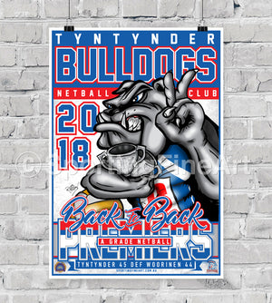 Tyntynder Football Netball Club 2018 Premiership Poster
